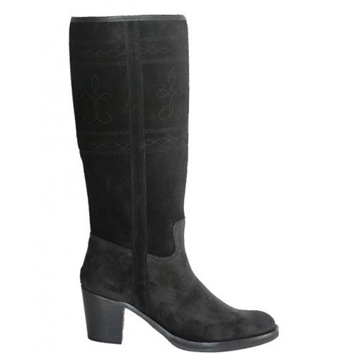 Andaluxx hoge suede laarzen zwart Lucia