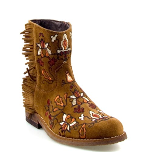 Clic! laarzen 9011 bloemen fringe afelpadro | Laarzen