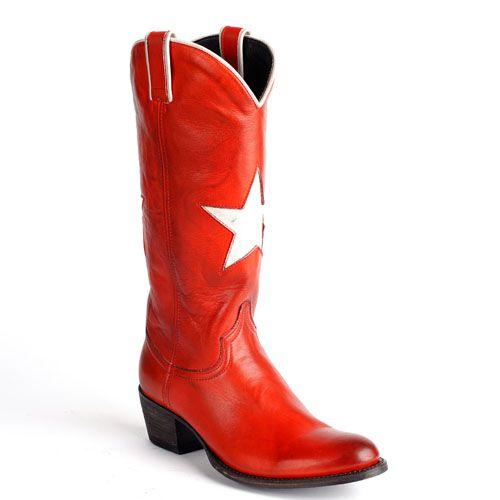 Sendra cowboylaarzen ster rood 13104