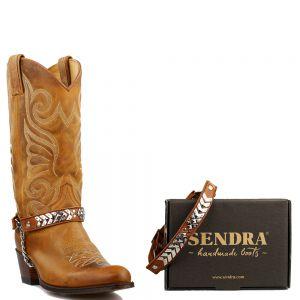 Sendra boot belts Arnes 40 Salvaje Miele - Cognac