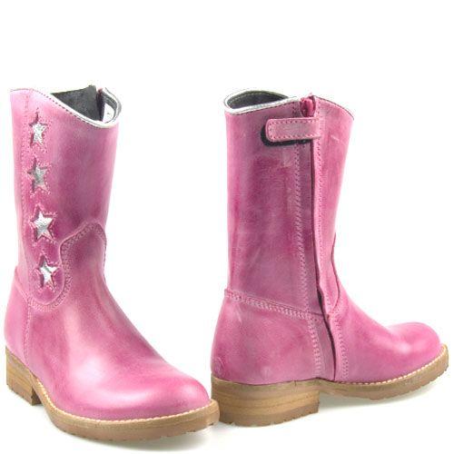 Boots Kinderschoenen.Hip Kinderschoenen Fuchsia Roze H1322 Ster