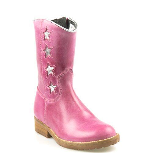 Kinderschoenen.Hip Kinderschoenen Fuchsia Roze H1322 Ster