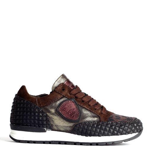 Verkooppunten Hip Kinderschoenen.Mimpi Sneakers Donker Bruin Panther H1547