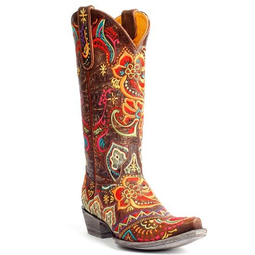 f1e2960ef95 Mexicana western boots Olivia Brass by Old Gringo