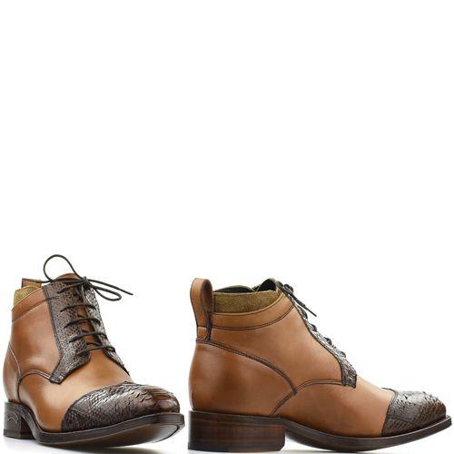 1acf7747217 Sendra lage western schoen 15669P cognac bruin met python
