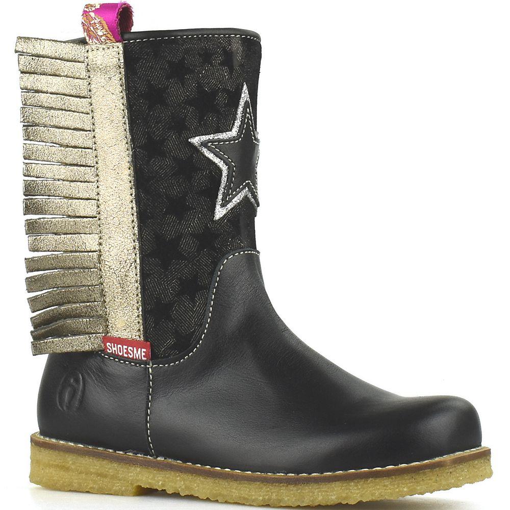 Wonderlijk Shoesme cowboylaarsjes CR8W104-B Black zwarte laarsjes met franjes AR-05