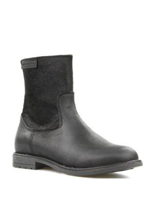Braqeez laarzen 417671-589 Zwart met ponyhair