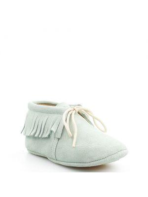 Clic! boots Cheyenne babyschoentjes mintgroen met franjes