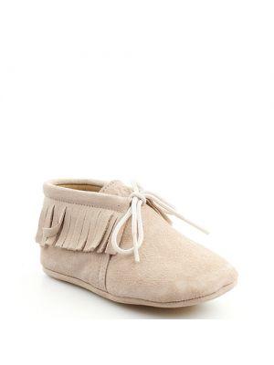Clic! boots Cheyenne babyschoentjes zachtroze met franjes