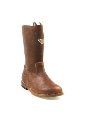 Clic! meisjes laarzen 9019 camel - cognac poes