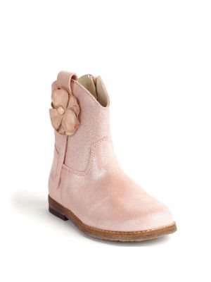 Clic! laarzen 8488 zacht roze met bloem