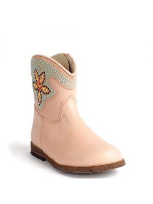 Clic! schoenen 8754 roze stud bloem