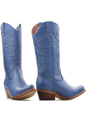 DWRS High Texas 20532 cowboylaarzen azuur blauw