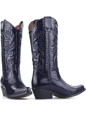 DWRS High Texas 20532 cowboylaarzen blauw lak