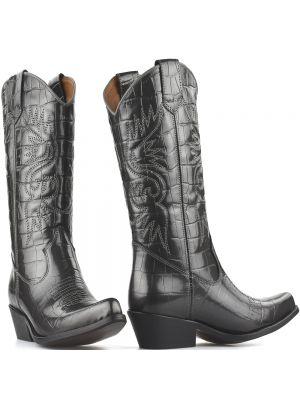 DWRS High Texas 20532 cowboylaarzen grijs metallic lak