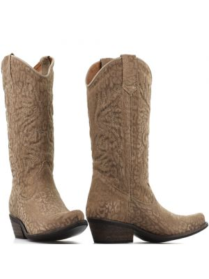 DWRS High Texas 20532 cowboylaarzen shiny brown leopard