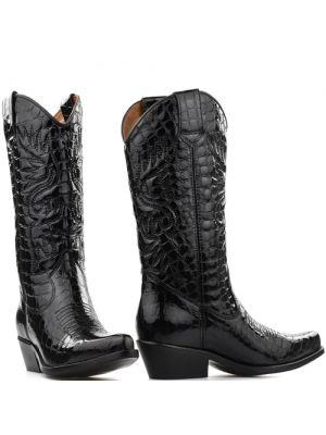 DWRS High Texas 20532 cowboylaarzen zwart lak