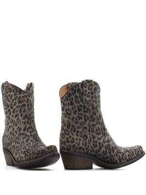DWRS Low Texas 23145 cowboylaarsjes grey leopard