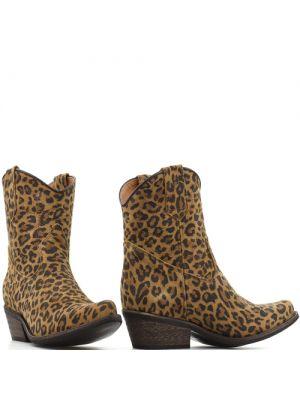DWRS Low Texas 23145 cowboylaarsjes leopard