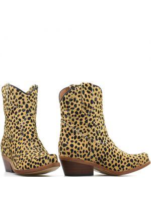 DWRS Low Texas Ponyhair 23145 cowboylaarsjes cheeta camel