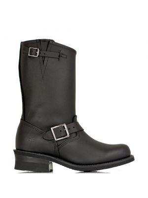 Frye Women's Engineer 8R Black Leather Boots | Zwarte laarzen