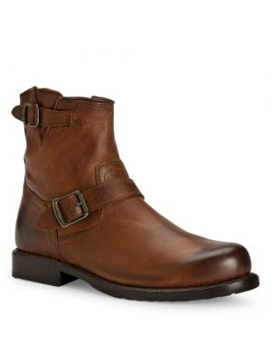 Frye herenschoenen Wayde Engineer Inside Zip cognac