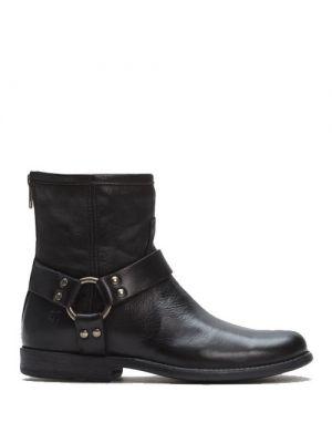 Frye Women's Phillip Harness Short Black Boots 768701