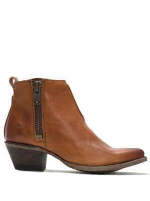 Frye Sacha Moto Shortie boots cognac 78003
