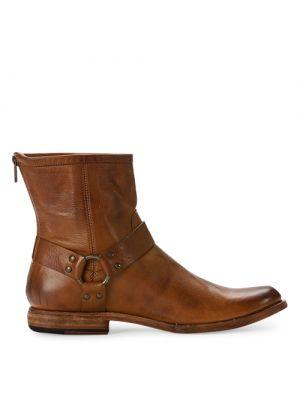 Frye schoenen heren Phillip Harness cognac zij