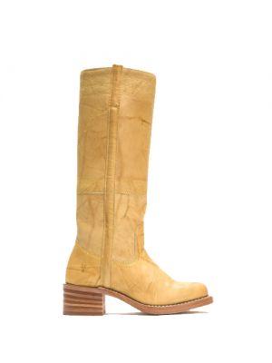 Frye Campus 14L geel laarzen met blokhak voor dames fashion