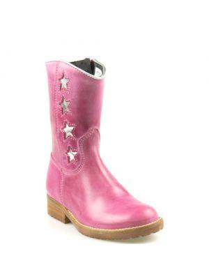 Hip kinderschoenen fuchsia roze H1322 ster
