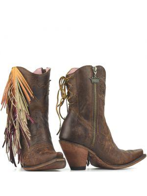 Junk Gypsy westernlaarjes The Spirit Animal Shortie Boots bruin