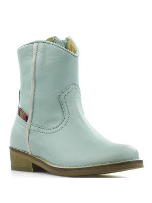Koel4Kids cowboylaarsjes Velvet Aqua White