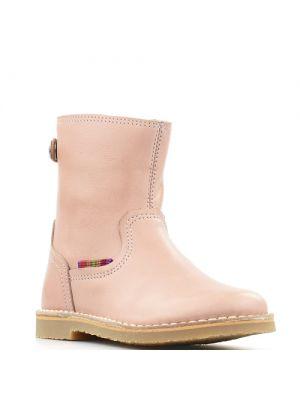 Koel4Kids korte meisjeslaarsjes Natur Batido Pink