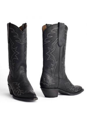 cowboylaarzen Danny Crazy Horse Vintage zwart