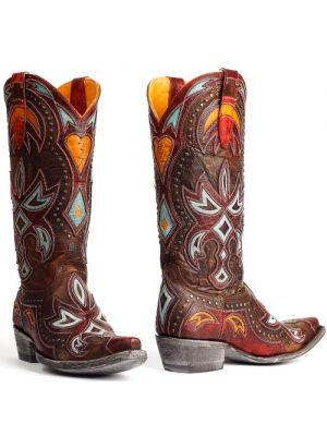 Mexicana laarzen Heartbreaker brown - red by Old Gringo