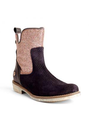 Mim-pi meisjeslaarzen Navy Blue Boots with Pink Glitter 1684