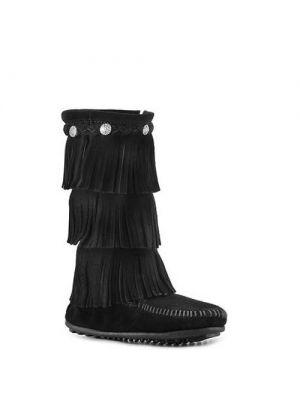 Minnetonka kinderen 3 layer finge boots brown