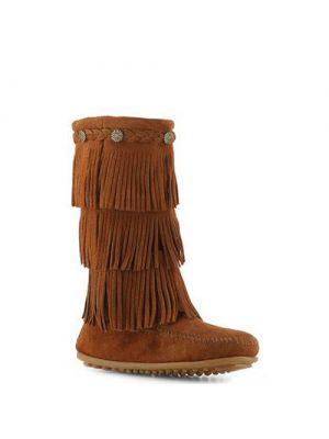 Minnetonka kinderen 3 layer finge boot brown