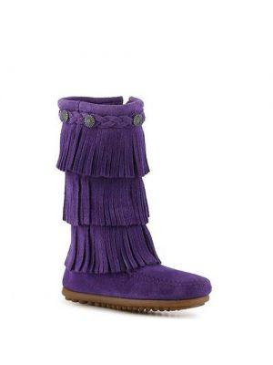 Minnetonka kinderen 3 layer finge boot purple 2654S