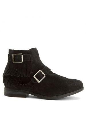 Minnetonka Rancho boots black suede