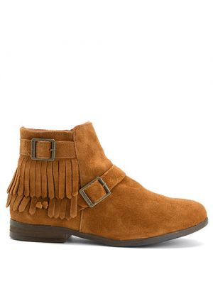 Minnetonka Rancho boots brown suede
