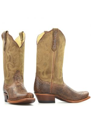 Nocona by Tony Lama boots NL5025 Tan Rattle Print bruin