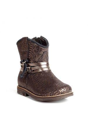 Pinocchio schoenen  donkerblauw - python metallic P1530