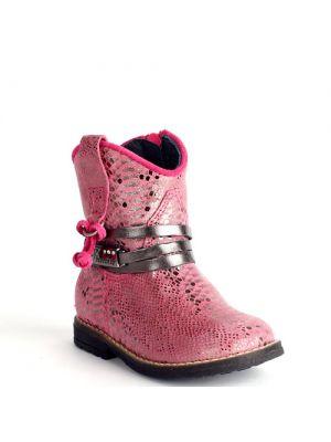 Pinocchio schoenen roze fuchsia - python metallic P1530