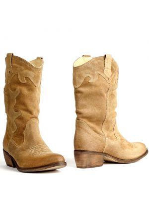 Poelman 12963 cowboylaarzen beige suede