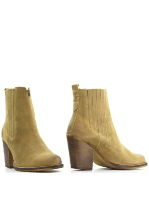 Poelman 13312 dames enkellaarsjes beige - naturel