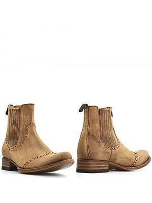 Sendra 13193 heren boots elastiek bruin - camel