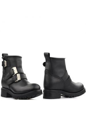 Sendra 14048 Pull Oil Negro biker boots zwart met siergespen