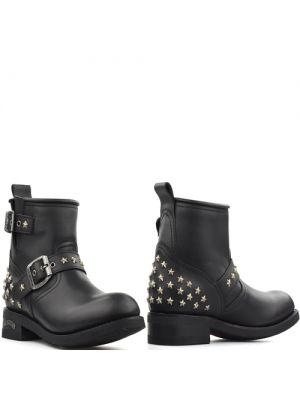 Sendra 15424 Pull Oil Negro biker boots zwart met metalen sterren